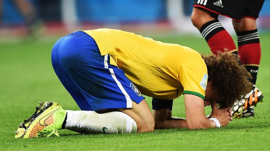 David Luiz lamenta derrota do Brasil para a Alemanha