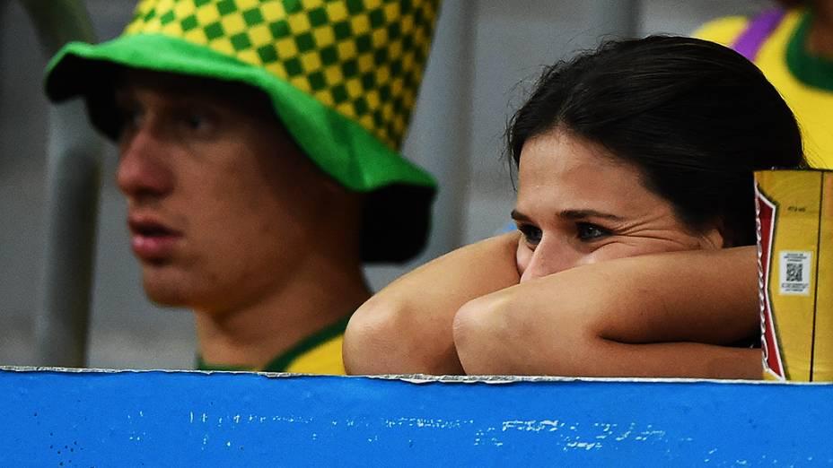 Torcedora do Brasil durante o jogo contra a Holanda no Mané Garrincha, em Brasília