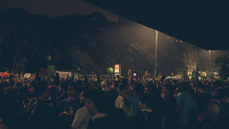 São Paulo - Avenida Paulista tem marcha pacífica nesta quinta-feira (20)