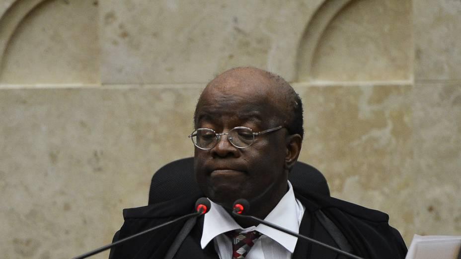Ministro Joaquim Barbosa durante o julgamento do mensalão