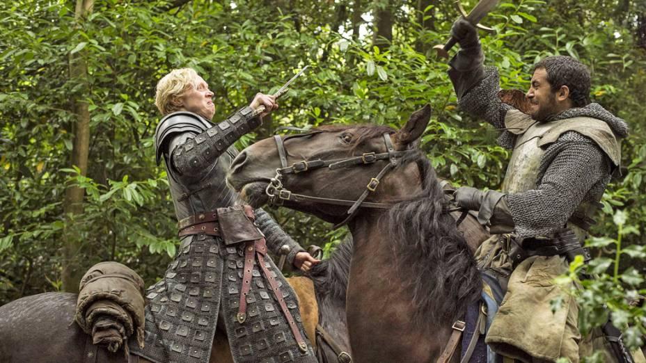 Brienne de Tarth em cena da quinta temporada de Game of Thrones