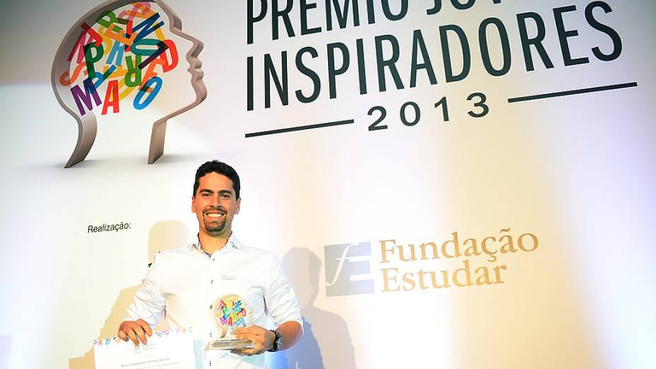 Bruno Santos foi um dos vencedores do Prêmio Jovens Inspiradores
