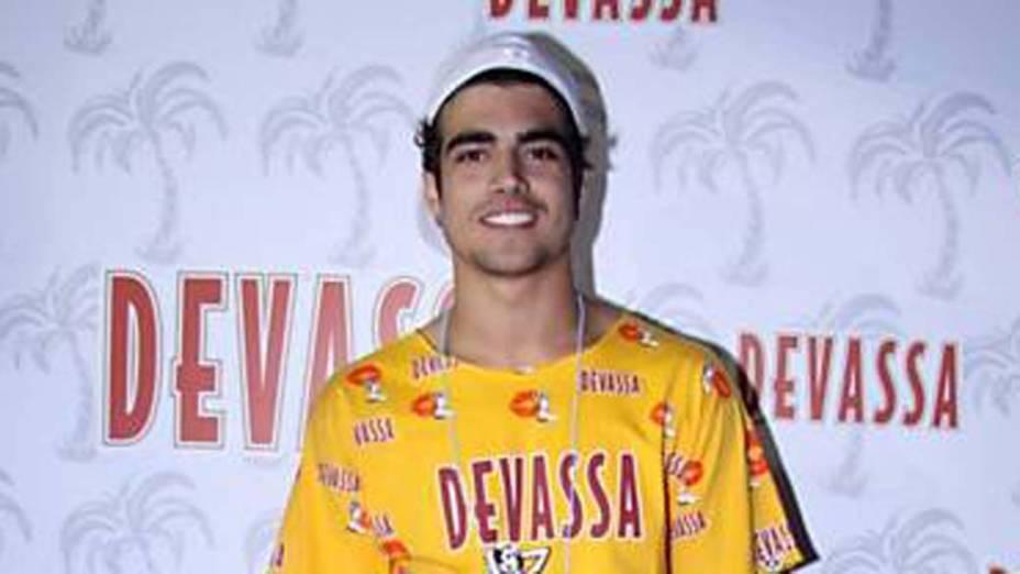 Caio Castro no Carnaval do Rio de Janeiro, em 20/02/2012