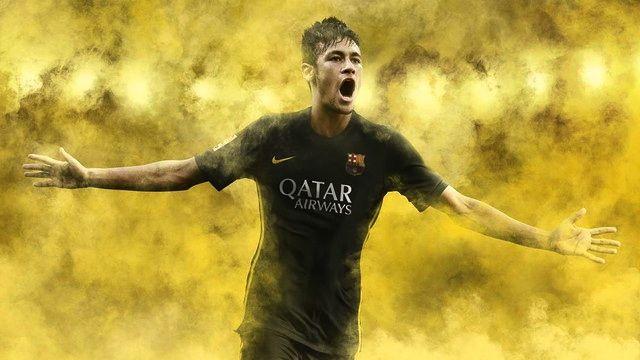 Neymar e a nova camisa preta do Barcelona