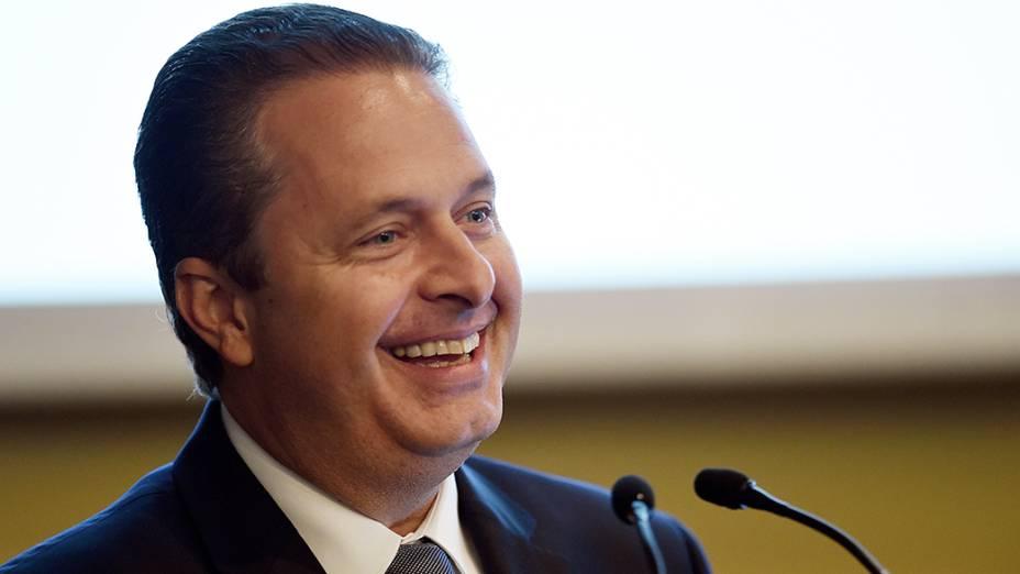 O candidato àPresidência da República, Eduardo Campos, durante sabatina promovida pela CNI, em Brasília