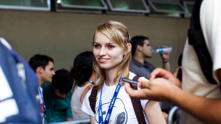 Campuseiros no primeiro dia da Campus Party no Parque Anhembi, São Paulo