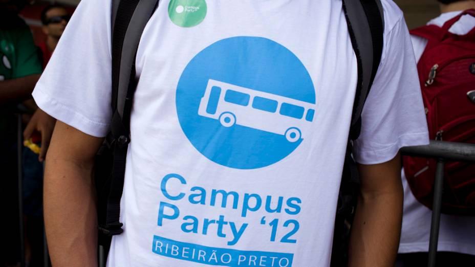 O campuseiro Renato Durão, de Ribeirão Preto, no primeiro dia da Campus Party no Parque Anhembi, São Paulo