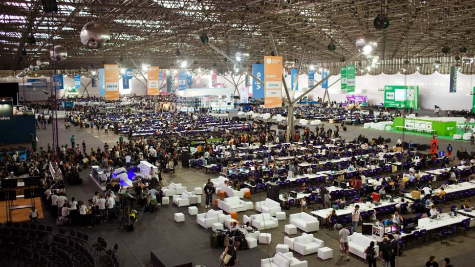 Primeiro dia da Campus Party no Parque Anhembi, São Paulo