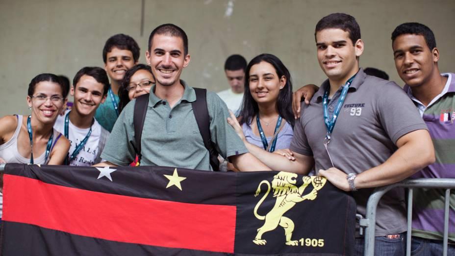 Caravana do Recife, Pernambuco, no primeiro dia da Campus Party no Parque Anhembi, São Paulo