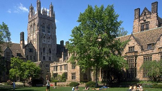 Universidade Yale, nos Estados Unidos - 10º lugar no ranking de reputação da revista THE