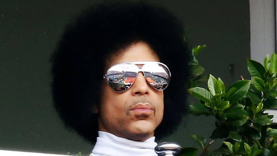 O cantor Prince durante Roland Garros em 2014
