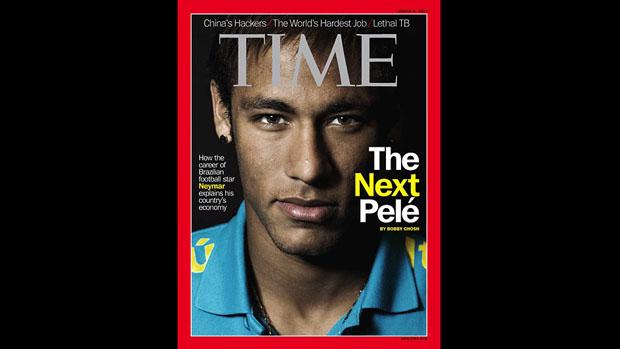 Neymar na capa da edição europeia da revista americana Time