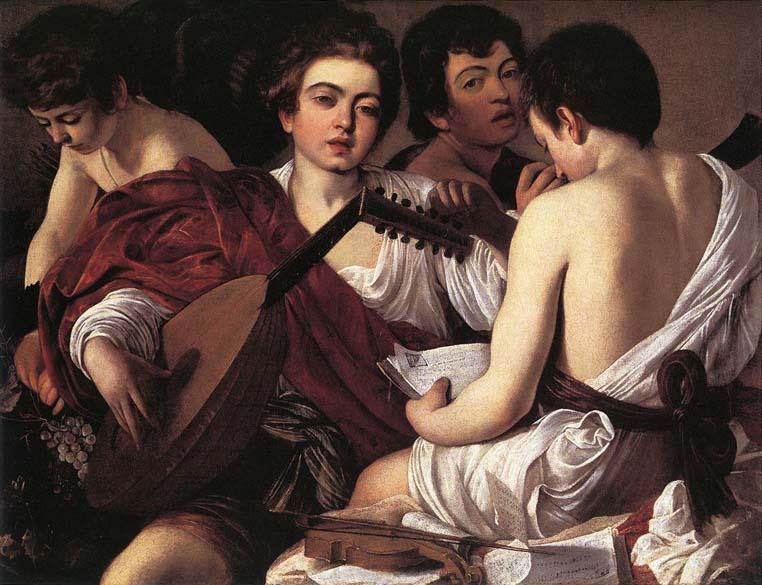 Os Músicos, de 1595, encontra-se no Museu Metropolitan em Nova York