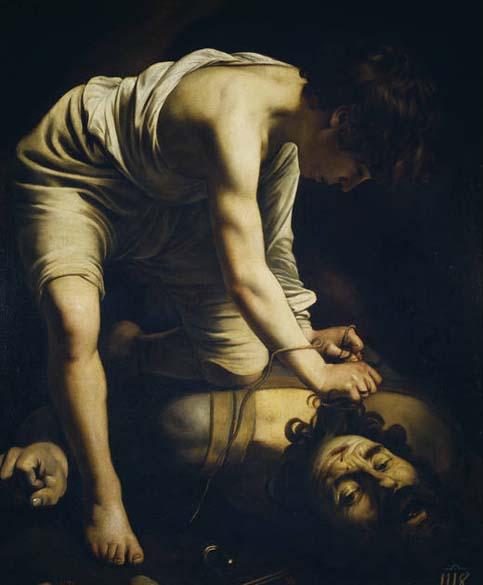 Davi com a Cabeça de Golias, de 1600. A tela está nas paredes do Museu Prado, em Madri