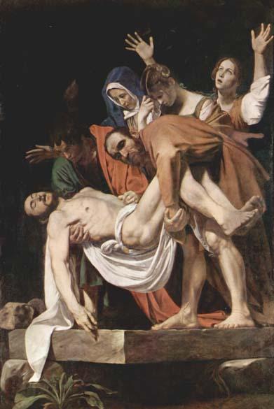 Descida da Cruz, produzido enter 1600 e 1604. A tela é considerada uma das obras-primas do pintor, e foi encomendado por Girolamo Vittrice para a capela de sua  família em Santa Maria de Vallicella, em Roma. Atualmente pode ser encontrada nos Museus do Vaticano