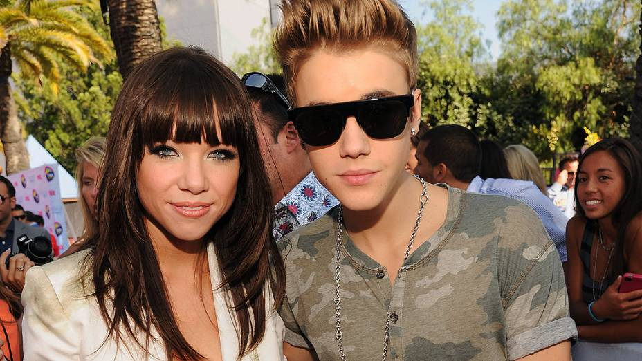 <p>Carly Rae Jepsen e Justin Bieber</p>