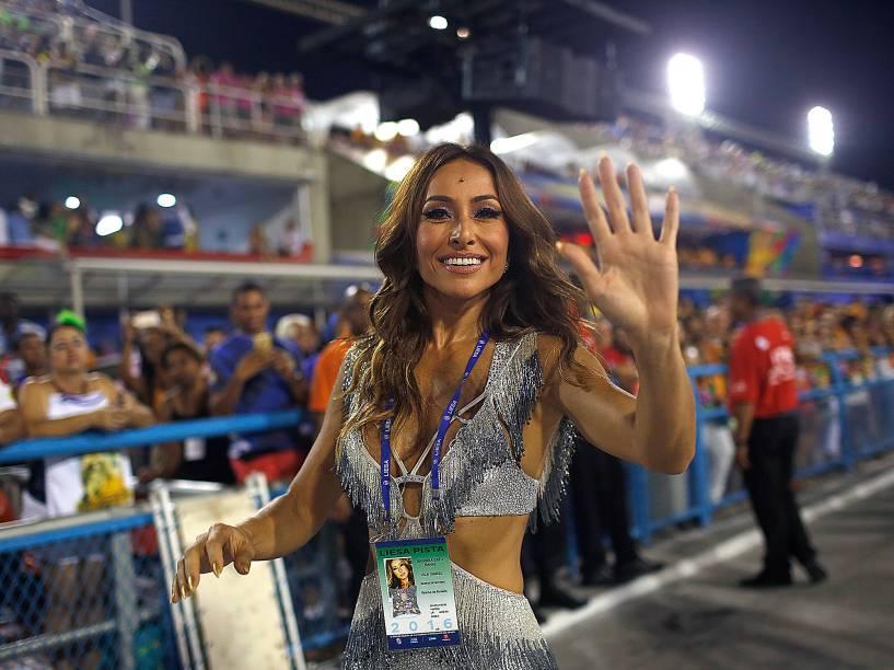 Sabrina Sato durante os desfiles do Grupo Especial na Sapucaí, no Rio