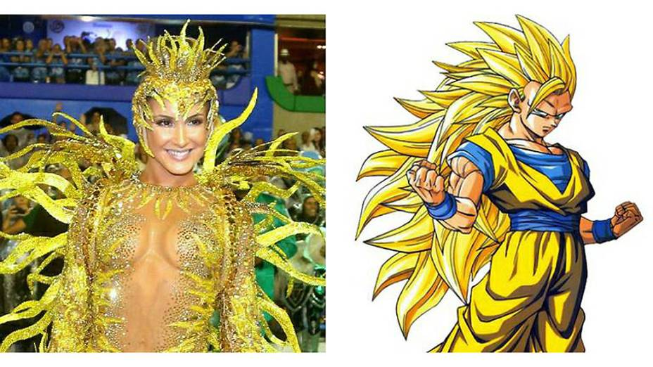 Meme mostra Claudia Leitte como personagem do desenho Dragon Ball Z