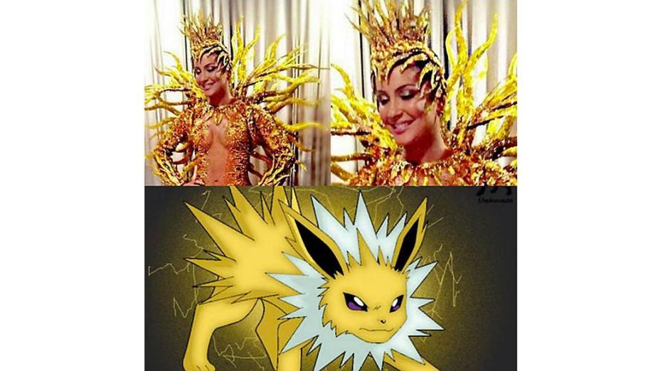 Claudia Leitte é comparada ao Jolteon, do desenho Pokémon