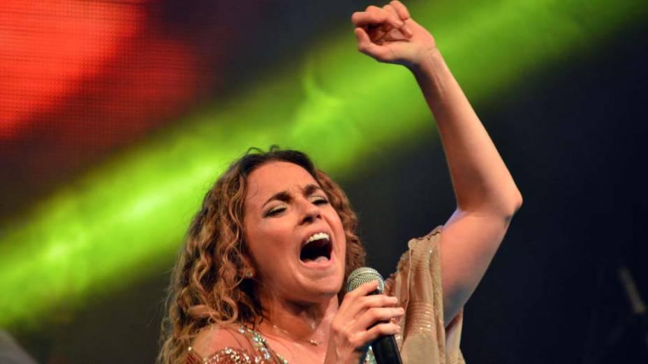 Daniela Mercury no Camarote da Rainha, em Salvador