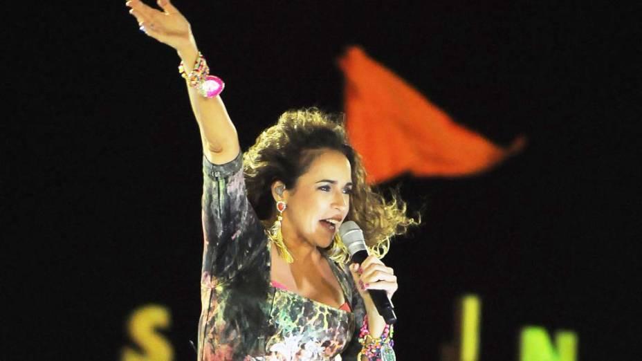Daniela Mercury se apresenta Barra-Ondina, em Salvador