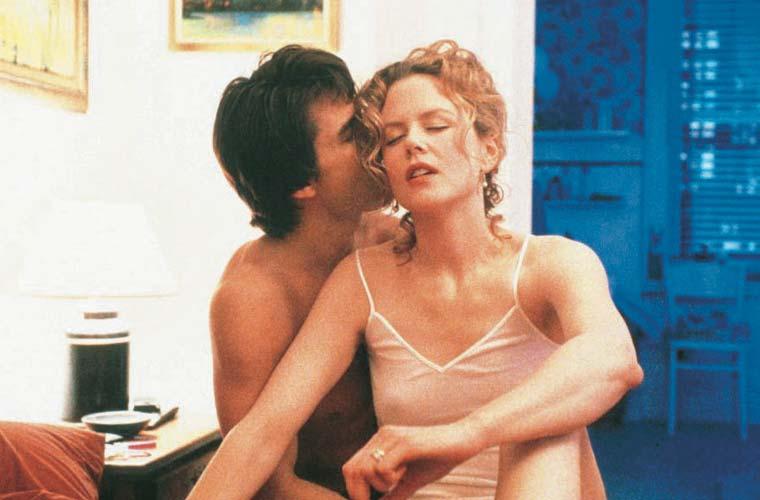<em>De Olhos Bem Fechados</em> (1999) foi um dos filmes de maior sucesso do casal Tom Cruise e Nicole Kidman, casados entre 1990 e 2001.