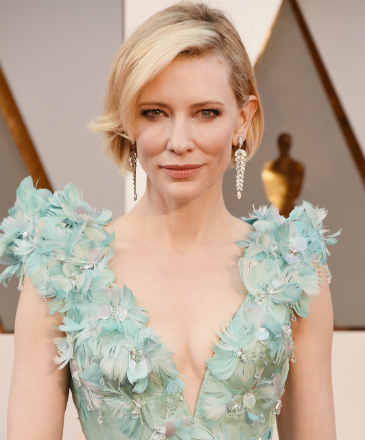 Cate Blanchett chega ao tapete vermelho do Oscar 2016