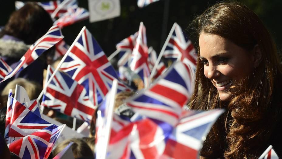Kate Middleton na reta final da gravidez do primeiro filho com o príncipe William