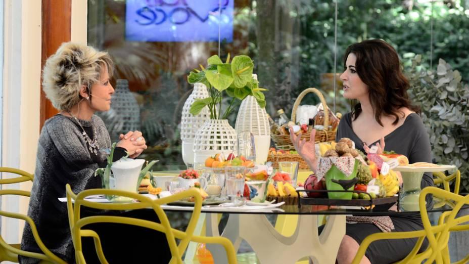 Ana Maria recebe a chef inglesa Nigella no programa Mais Você