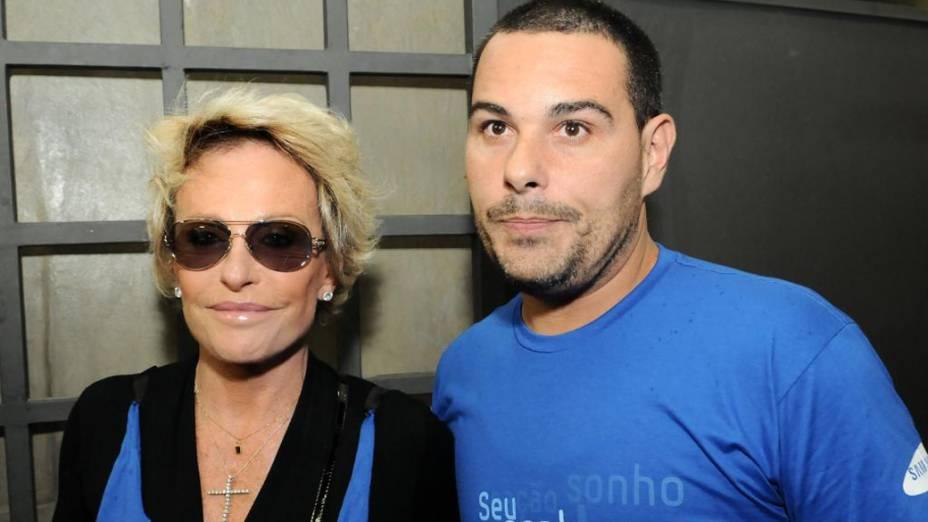 Ana Maria Braga e seu namorado Marcelo Frisoni