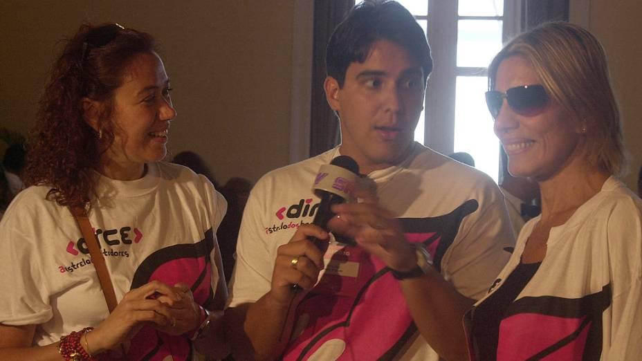 Lilia Cabral, André Marques e Mila participam da feijoada de lançamento do site Dirce, do portal Globo.com, no Hotel Copacabana Palace