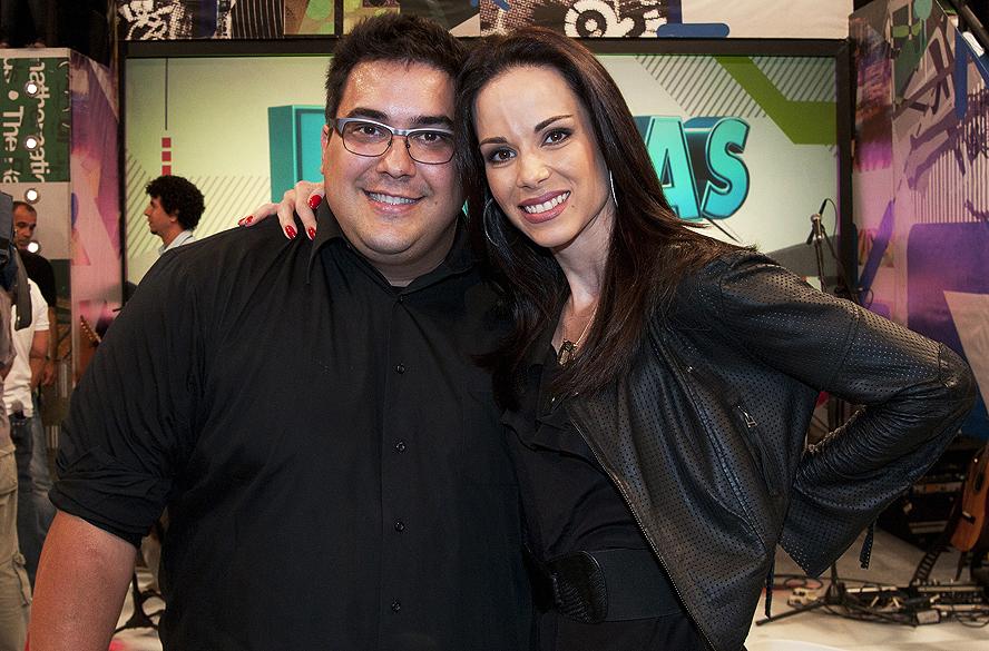 Ana Furtado e André Marques, dupla que dividiu a bancada do Vídeo-Show