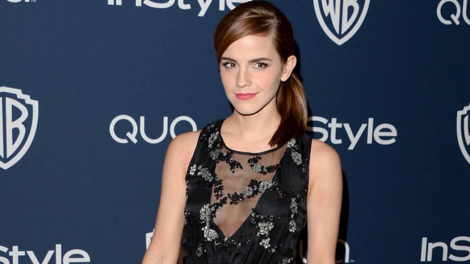 A atriz Emma Watson ficou em 5º lugar