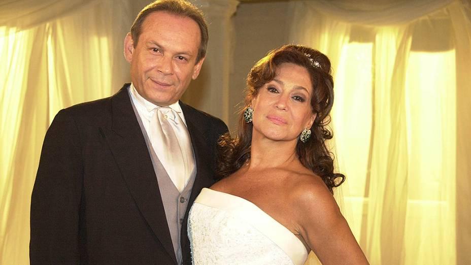 Susana Vieira e José Wilker, na novela Senhora do Destino em 2004