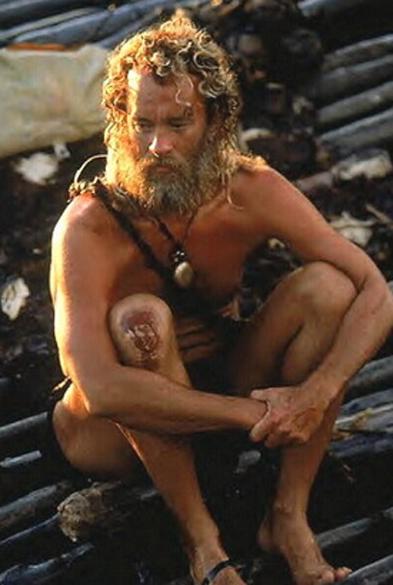 Tom Hanks no filme Náufrago (2000)