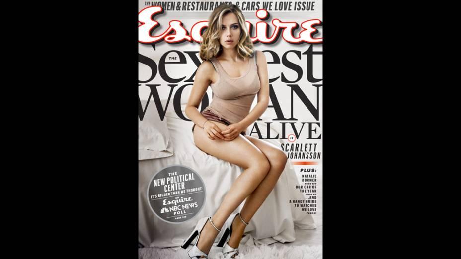 Scarlett Johansson é eleita a mulher viva mais sexy do mundo pela revista Esquire