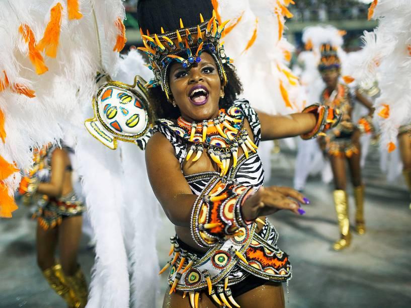 Desfile da Portela no segundo dia do Grupo Especial na Sapucaí
