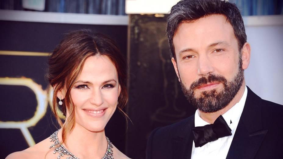 A atriz Jennifer Garner e o ator/diretor Ben Affleck