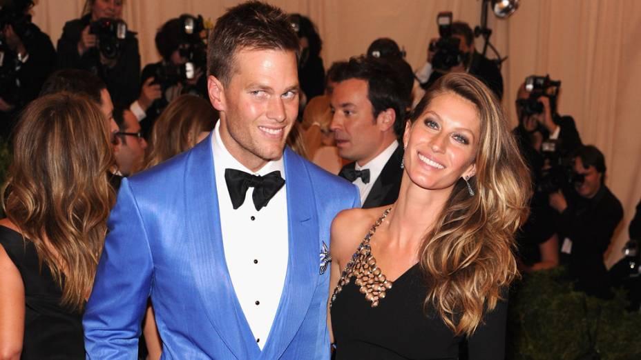 Gisele Bündchen e o jogador de futebol americano Tom Brady