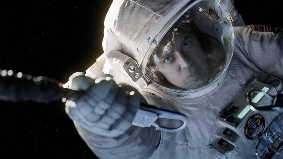 O astronauta Matt Kowalski (George Clooney) no filme Gravidade