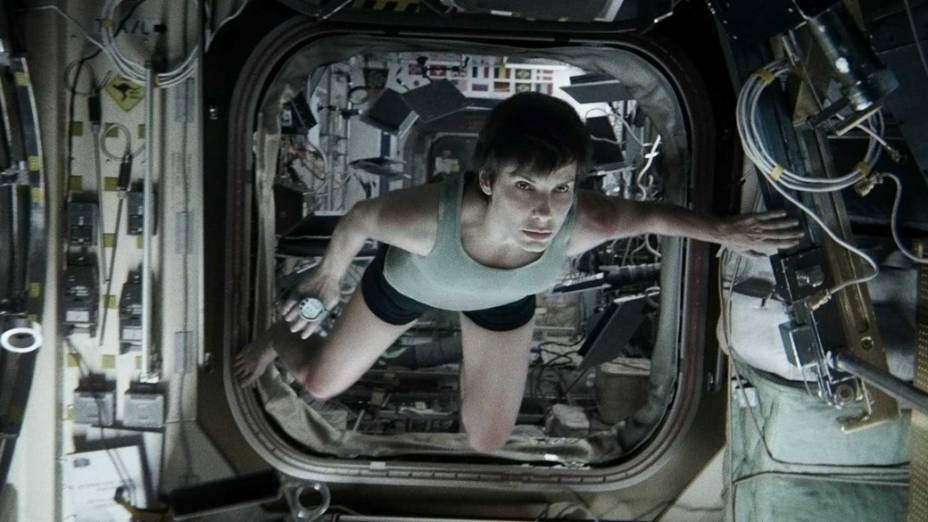 <p>Sandra Bullock interpreta a doutora Ryan Stone no filme Gravidade</p>
