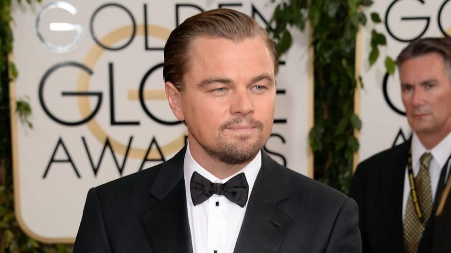 <p>Ator Leonardo DiCaprio chega para a premiação do Globo de Ouro, na Califórnia</p>