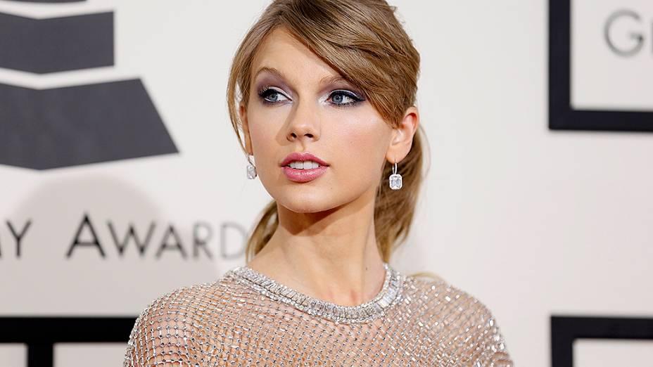 Taylor Swift na chegada para a premiação do Grammy 2014, em Los Angeles