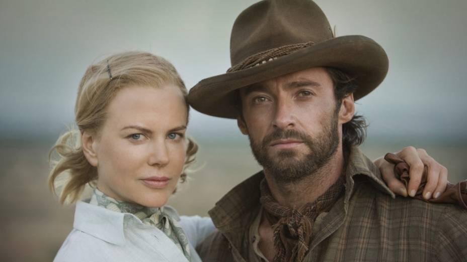 Hugh Jackman e Nicole Kidman no filme Austrália