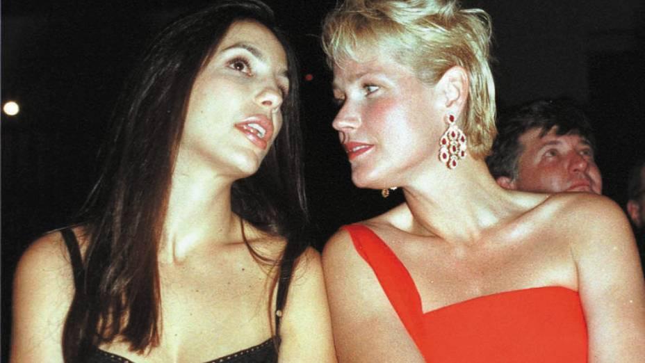 Ivete Sangalo e Xuxa, em 1999
