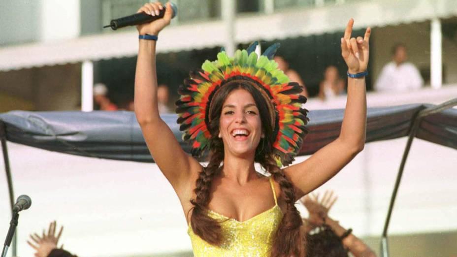 Ivete Sangalo no Carnaval de Salvador, em 2000