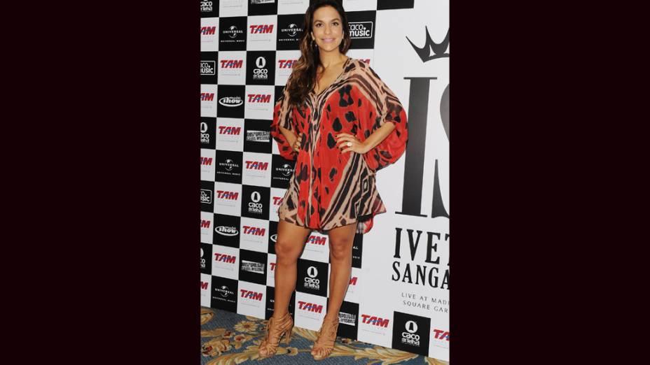 Ivete Sangalo dá entrevista coletiva antes de seu show no Madison Square Garden, em NY