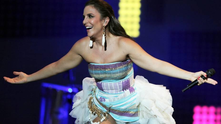 Ivete Sangalo durante um show em Assunção, no Paraguai