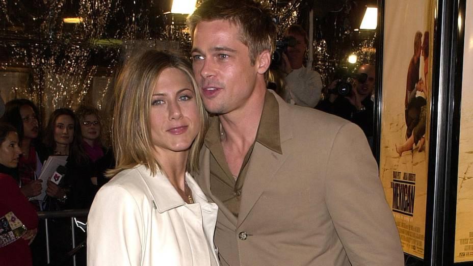 Jennifer Aniston e Brad Pitt em 2001