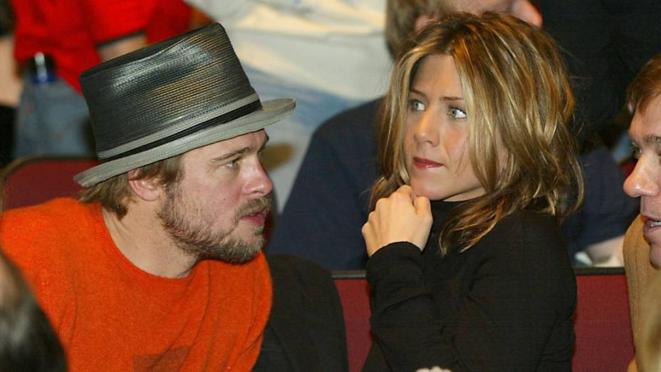 Jennifer Aniston e Brad Pitt em 2002